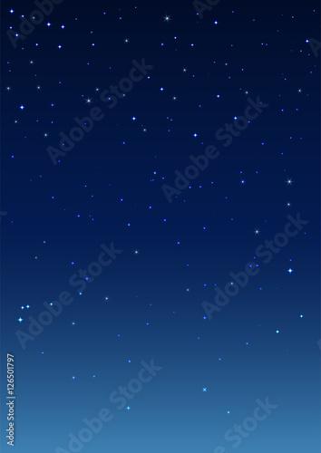 Night starry sky. Vertical background