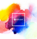 Fototapety Vector watercolor painting background.