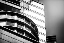 bâtiments Hong Kong Commercial Noir et le ton blanc
