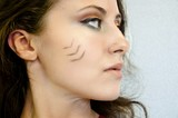 pretty girl with tribal makeup