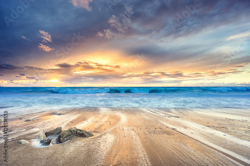 Fototapety, obrazy : Sunset at the beach
