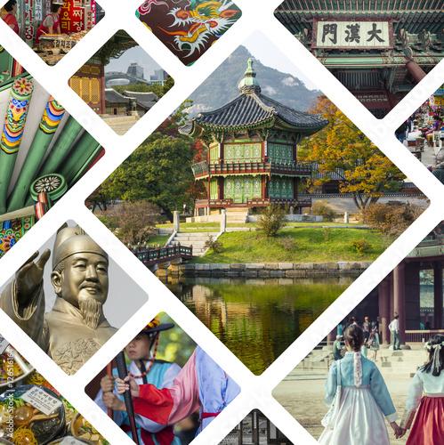 Fotobehang Seoel Collage of Seoul ( South Korea ) images - travel background (my