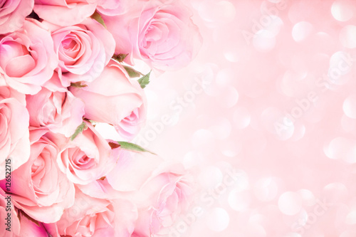 Plagát close up sweet light pink on pink abstract lighting background