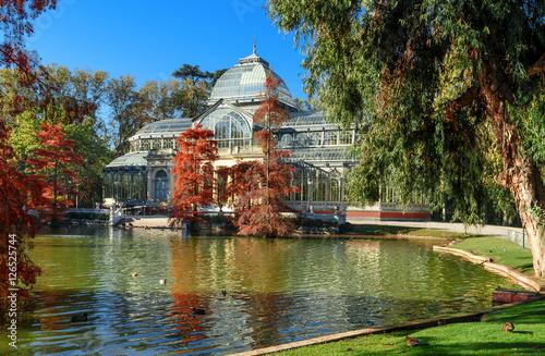 Foto op Canvas Madrid crystal palece of El Retiro park,Madrid