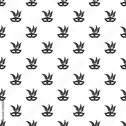 Cotton fabric Carnival mask pattern. Simple illustration of carnival mask vector pattern for web