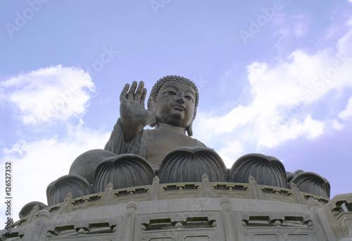 Tian Tan Buddha, Big Buddha statue at Nong Ping 360 in Hongkong Island Poster