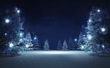 Fototapety free area in winter glittering magic woods