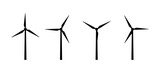 Vector silhouettes of wind turbines - 126538184