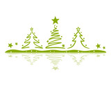 Fototapety Christmas Trees with little Stars