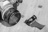 Macchina fotografica Vintage con rullino