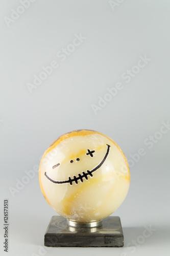 Poster Gute Laune symbolisch als fröhlicher Smiley / Be Happy / Textfreiraum