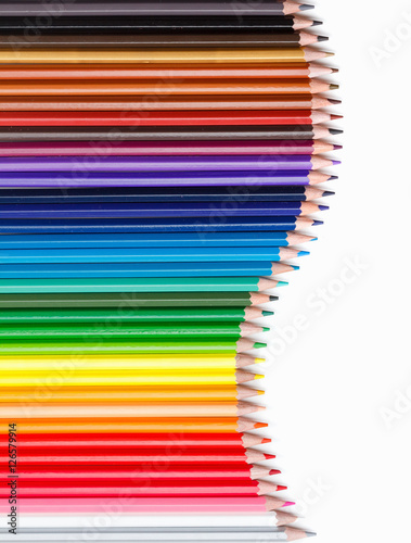 Poster Set of colored pencils