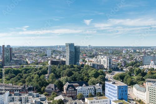 Foto op Plexiglas Japan Hamburg Skyline