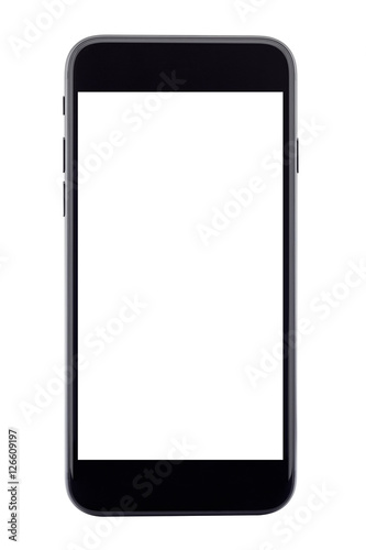 Poster phone isolated on white background