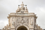 The arch on Praca do Comercio (Commerce Square) in Lisbon, Portugal