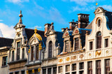 traditional belgian facades at grand place, belgium