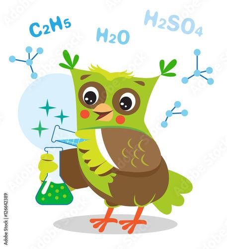 smieszna-sowa-eksperymentuje-z-substancjami-chemicznymi-wzor-chemiczny-na-bialym-tle-ilustracja-kreskowka-wektor-owl-memy-zarty-smieszne-wyrazy-sow-sowa-zabawka