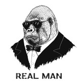 gorilla like a real man - 126649584