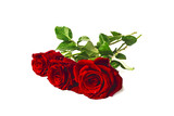tre rose rosse bouquet