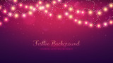 Fototapety Glowing light bulbs design. Abstract background. Vector illustration. Christmas site header.