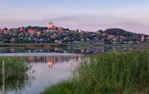 Sunset at the Inner Lake of Tihany, Hungary Poster