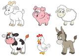 Set von sechs unterschiedlichen Tierarten auf dem Bauernhof - 126685505