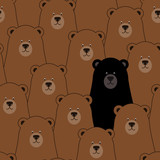 Vector seamless pattern with bears - 126697741