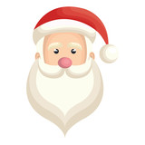 cute santa claus character vector illustration design
