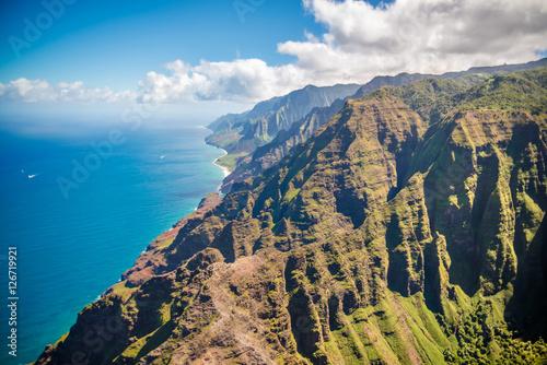 Deurstickers Canarische Eilanden View on Napali Coast on Kauai island on Hawaii
