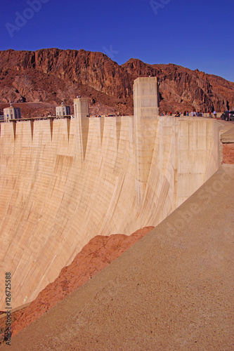 Poster Face of Hoover Dam, Lake Mead , Colorado River
