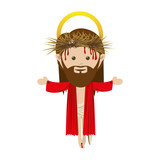 jesus holy family icon image vector illustration design