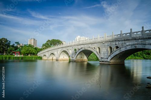 Plagát Stone Arch Bridge of Chinese Garden