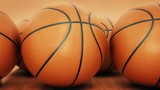 Orange basket ball. 3d rendering