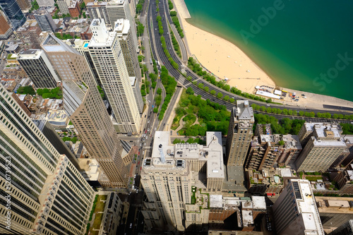 Plexiglas Chicago Chicago skyline aerial view