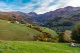 Autumn scenery in the mountains of Asturias
