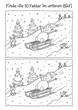 Leinwanddruck Bild - Fehlerbild Schlitten fahren