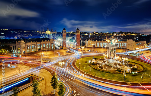 Tuinposter Barcelona Plaça d'Espanya