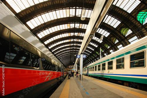 In de dag Milan Train Station Milan Italy