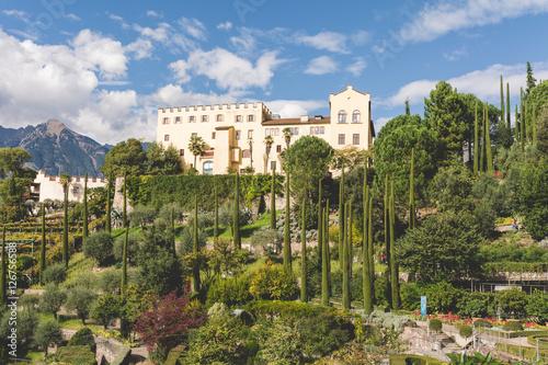 Poster Giardini di Castel Trauttmanssdorff, Merano, Alto Adige, Italia