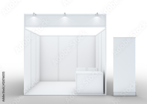 Blank exhibition stand.