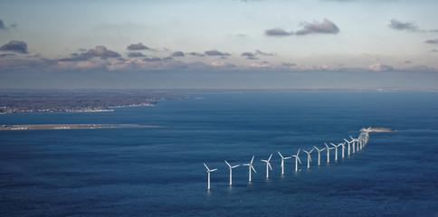 Wind farm in sea