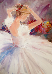 Art Oil-Painting Picture Ballerina © shvets_tetiana