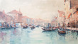 Art Oil-Painting Picture Venice Italy