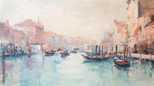 Art Oil-Painting Picture Venice Italy © shvets_tetiana