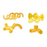 Pasta products vector set.