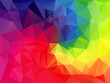 vector abstract irregular polygon background with a triangular pattern in full color spectrum rainbow