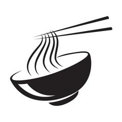 icon black noodle, vector