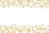 Fototapety Photo scattered sequins in the shape of a star. Seamless border with gold glitter star. Sequins. Golden shine. Powder. Glitter. Shining symbol.