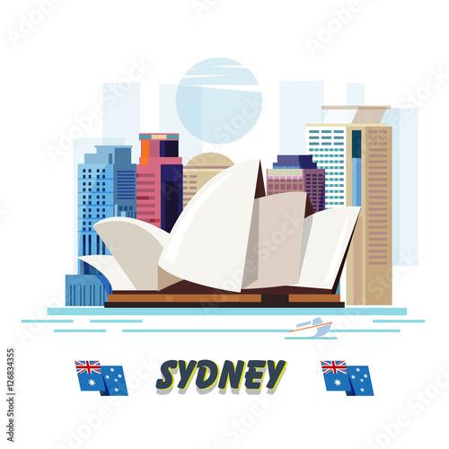 Poster Sydney. Australia - Vector