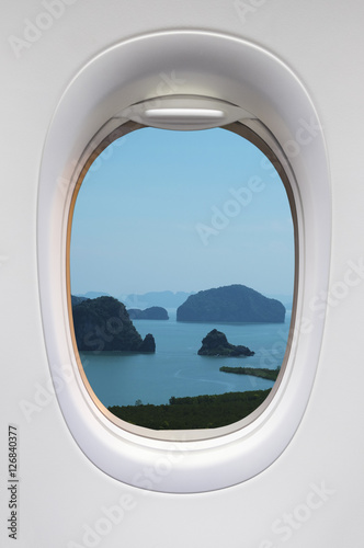 Beautiful iceland view from the airplane window - 126840377